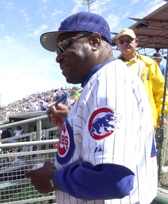 Dusty Baker, manager of the Chicago Cubs (2003–2006)