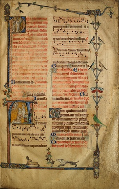 A page from the Sherbrooke Missal, one of the earliest surviving missals of English origin