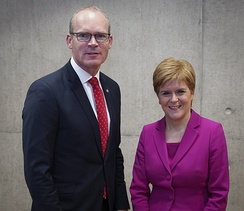 Sturgeon meets with Simon Coveney, Minister for Foreign Affairs (Ireland)
