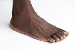 An adult human foot is about 28 centimetres long.