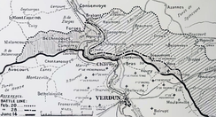 Ground captured by the German 5th Army at Verdun, February–June 1916