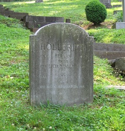 Hollerith's grave at Oak Hill Cemetery in Georgetown in Washington, D.C.[12]