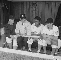 Longtime Springfield College head coach Archie Allen was CCBL Commissioner in 1983. He is shown here coaching the Dutch national team in the 1964 European Baseball Championship.