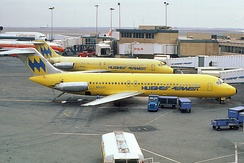 McDonnell Douglas DC-9-30 jets in Hughes Airwest livery