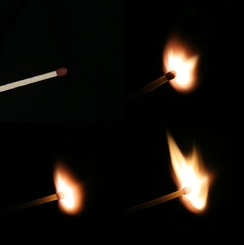 Process of ignition of a match