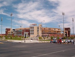 The entrance to Rio Grande Credit Union Field at Isotopes Park in 2005