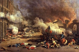 On 10 August 1792 the Paris Commune stormed the Tuileries Palace and killed a part of the Swiss Guards