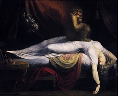 The Nightmare, oil on canvas by John Henry Fuseli