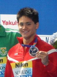 Joseph Schooling is a gold medalist and Olympic record holder at the Rio 2016 Games – 100 m butterfly.[463]