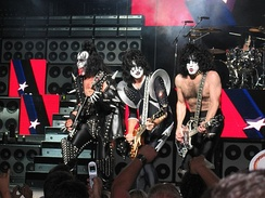 Kiss onstage in Boston in 2004