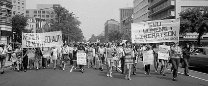 The Women's Liberation Movement featured political activities such as  a march demanding legal equality for women in the United States. (26 August 1970)