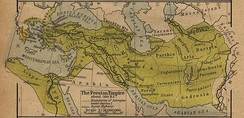 Picture depicting the Achaemenid Persian empire in relation to the Persian Gulf.