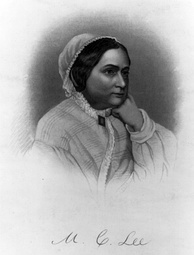 Engraving of Mary Anna Custis Lee, 1854