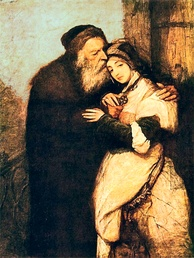 Shylock and Jessica (1876) by Maurycy Gottlieb.