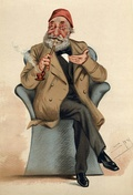 Caricature of Midhat Pasha by Leslie Ward in the 30 June 1877 issue