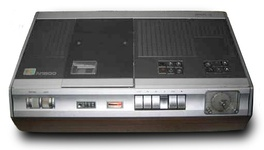 An N1500 video recorder, with wooden cabinet