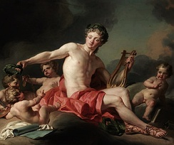 Apollo crowning the arts, by Nicolas-Guy Brenet