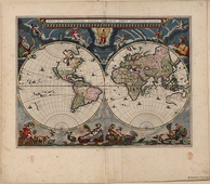 Blaeu's Atlas Maior (1662–1672), a monumental multi-volume world atlas from the Golden Age of Dutch/Netherlandish cartography (c. 1570s–1670s) and a widely recognized masterpiece in the history of mapmaking. Willem Blaeu and his son Joan Blaeu were both official cartographers to the VOC.