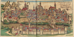 1493 woodcut of Basle, from the Nuremberg Chronicle