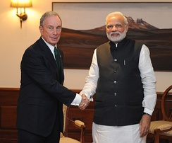 Bloomberg with Indian Prime Minister Narendra Modi in 2015