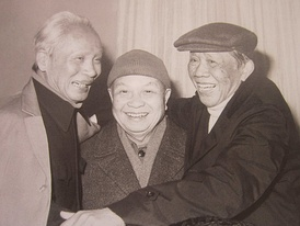 Vietnam's aging leadership in the 1980s: (from left to right) Phạm Văn Đồng, Trường Chinh and Lê Duẩn.