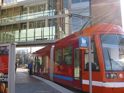 Portland Streetcar at the university's Urban Plaza