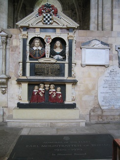 Tombs of John and Grissell St Barbe and that of Earl Mountbatten of Burma.