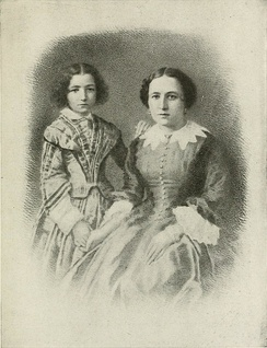 Bernhardt with her mother