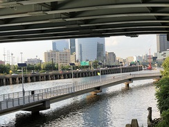 View of the Schuylkill Expressway from the Schuylkill River Trail