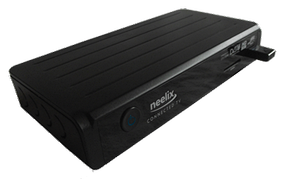 An Inview Neelix set-top box manufactured in 2012. It allows simultaneous access to television broadcast and internet applications