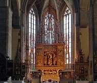 Main altar in Basilica of St. James from the workshop of Master Paul of Levoča, highest wooden altar in the world, 1517