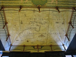 Tasman's map on the floor of the foyer of the Mitchell library