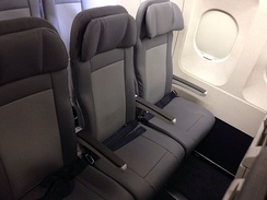 New slimline economy seats on an Airbus A320-200