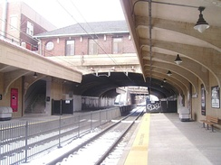 Watsessing Avenue Station as viewed from its Hackettstown/Montclair platform
