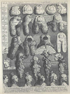 Five Orders of Periwigs, 1761