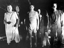 The low-budget epic Night of the Living Dead was the first film to feature the modern interpretation of zombies.