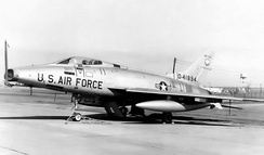 136th Tactical Fighter Squadron - North American F-100C Super Sabre 54-1894, about 1965