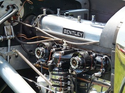 "Intake manifold of a ""Blower Bentley"""