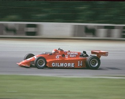 Foyt racing at Pocono in 1984