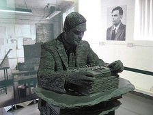 Alan Turing's statue at Bletchley Park