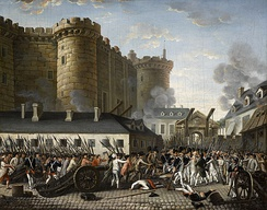 Storming of the Bastille and arrest of Governor Bernard-René de Launay, 14 July 1789