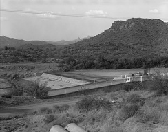 Ashurst-Hayden diversion dam, part of the San Carlos Irrigation Project