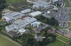 Aerial View of the Babraham institute in 2014