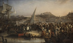 Napoleon leaving Elba, painted by Joseph Beaume