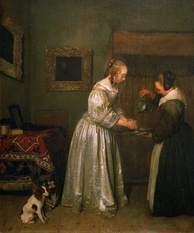 A lady washing her hands c. 1655