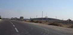 A view of Borg El Arab stadium while it was under construction. November 2005