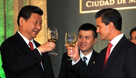 President Enrique Peña Nieto with President of China Xi Jinping