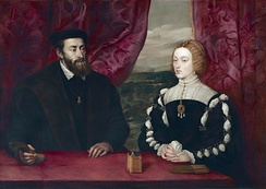 Emperor Charles V and Empress Isabella. Peter Paul Rubens after Titian, 17th century