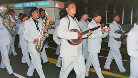 The Christmas Bands are a popular Cape Coloured cultural tradition in Cape Town