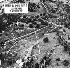 Aerial view of missile launch site at San Cristobal, Cuba